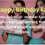 Ucapan selamat ulang tahun untuk kakak laki-laki dan perempuan