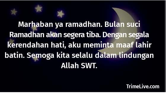 Ucapan Permintaan Maaf Menjelang Bulan Suci Ramadhan