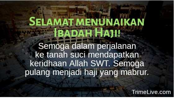 Ucapan Selamat untuk orang yang Berangkat Haji