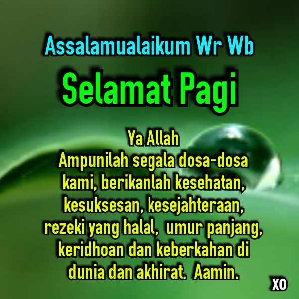 30 Ucapan Selamat Pagi Islami Bergambar Terbaru