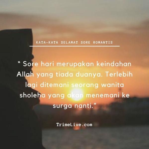 kata-kata ucapan selamat sore islami