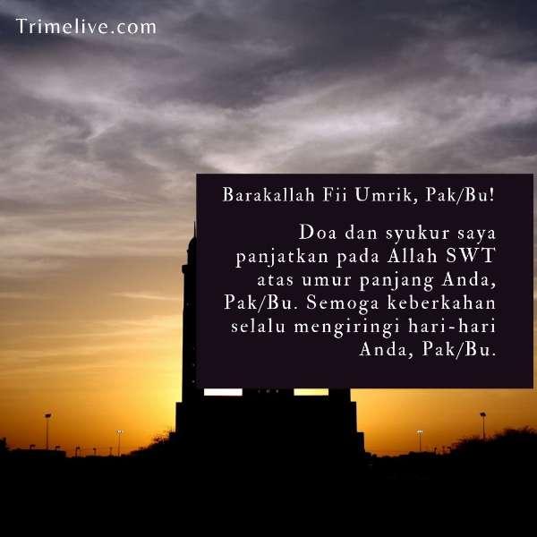 ucapan ulang tahun islami untuk atasan