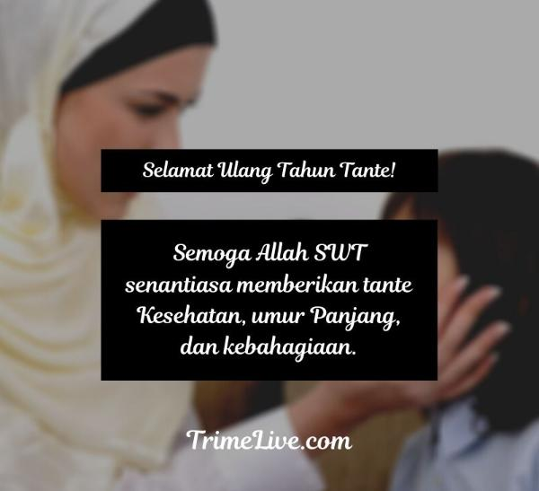 Ucapan Ulang Tahun untuk Tante Islami