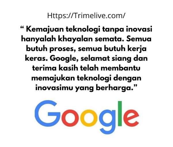 kata kata selamat siang buat mbah google