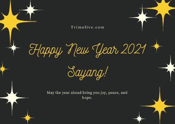 Ucapan Selamat Tahun Baru 2021 untuk Pacar Tercinta