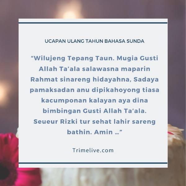 75 Ucapan Selamat Ulang Tahun Bahasa Sunda