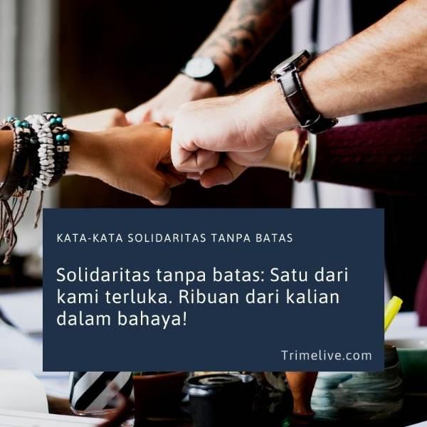 Kata-kata Solidaritas Tanpa Batas