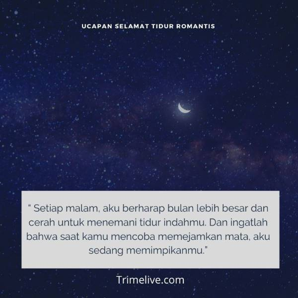 Kata-kata Ucapan Selamat Tidur Buat Gebetan bikin Baper