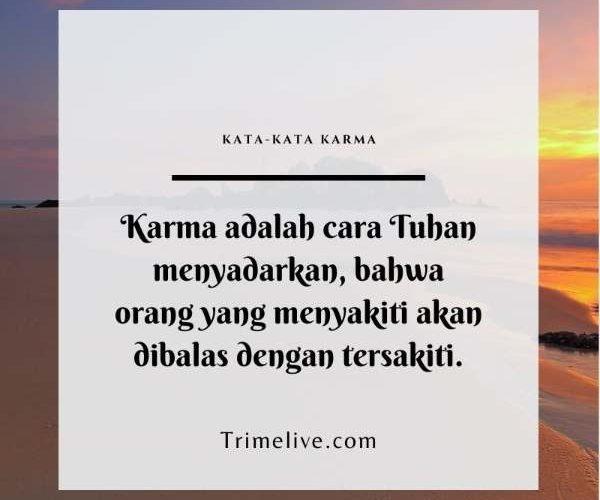 Kata-kata Karma untuk Orang yang Menyakiti