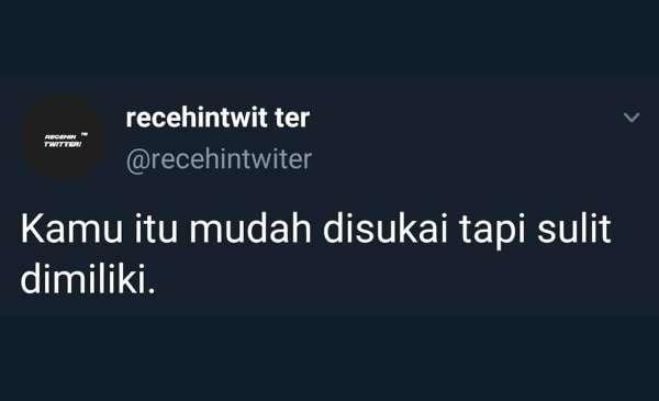Kata-kata Twitter Nyindir yang Ngena Banget